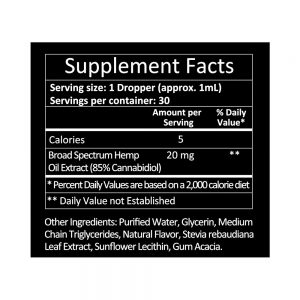 KetoMediol Nutrition Facts